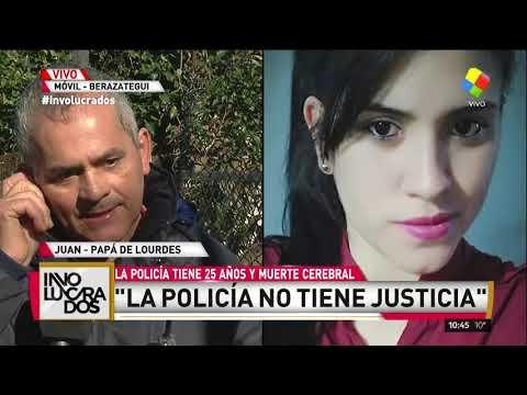 Habló el padre de Lourdes la policía baleada