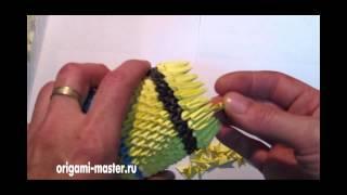 как сделать оригами из треугольников бумаги миньона