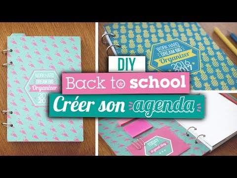 Diy Back To School  Crer Son Agenda  Youtube