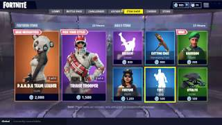 Fortnite item shop 9/8/18 NEW *GARRISON* SKIN