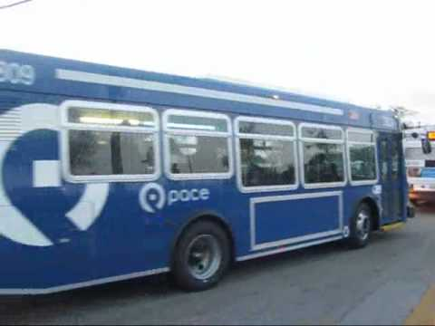 Rush Period Pace Buses at Lisle Metra Station