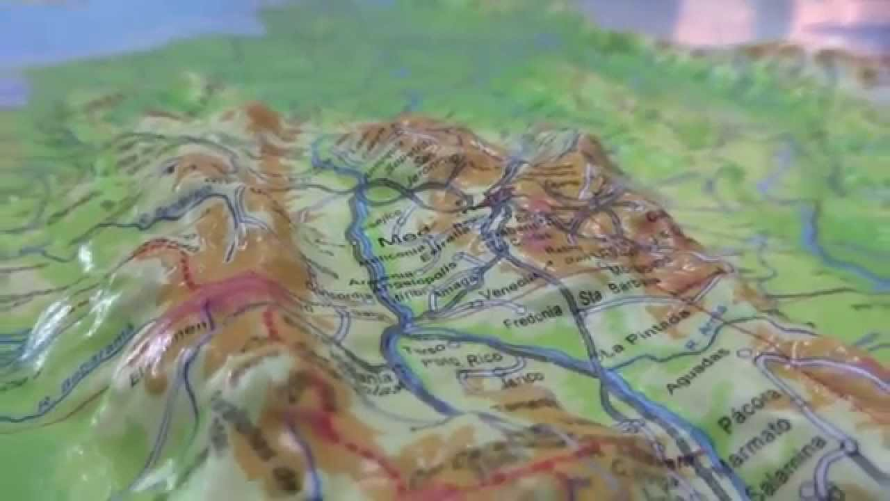 Mapa de Colombia Alto Relieve Mapas Cartur YouTube