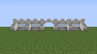 Кaк построить красивый забор для модерн дома в minecraft 1.5.2