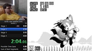 Sonic Jam (Game.com) - Sonic 2 in 4:10 [WR] #12HourChallenge