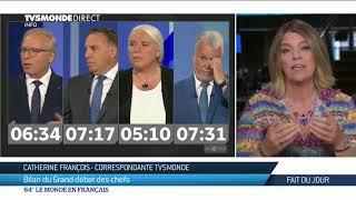 Québec: bilan du grand débat des chefs avant les élections du 1er octobre.