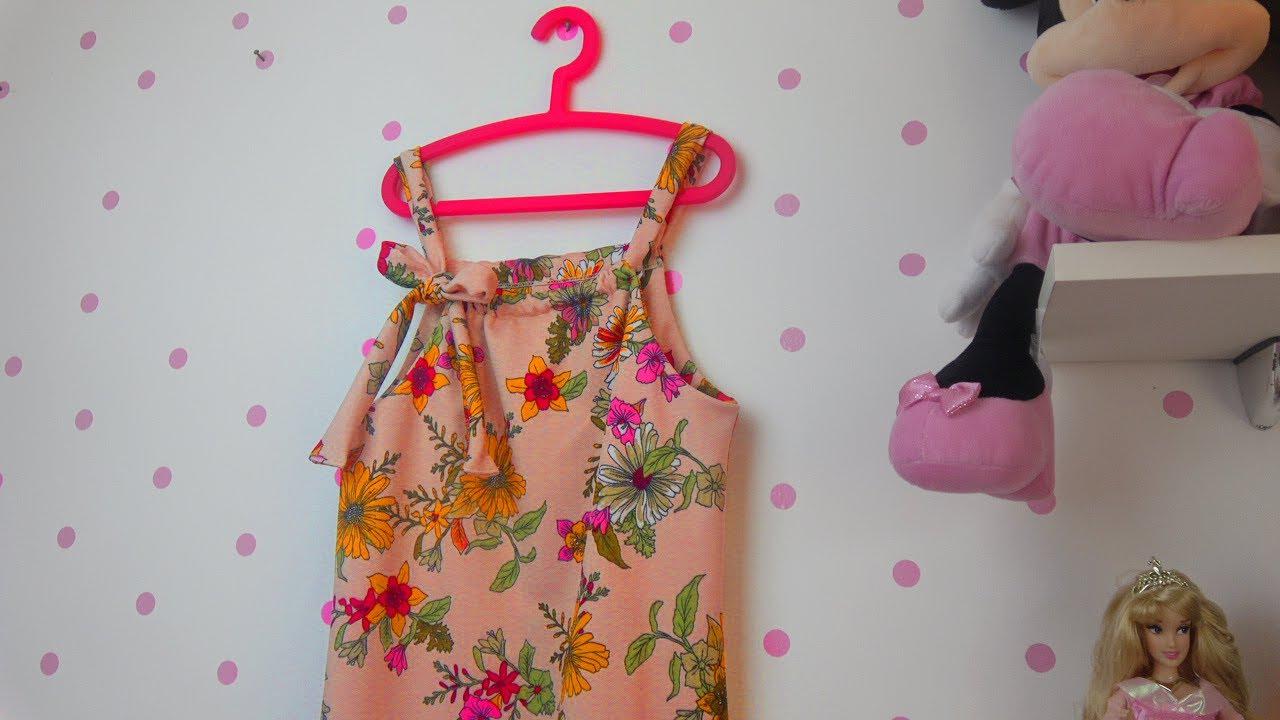 Vestido infantil fácil -  Molde base