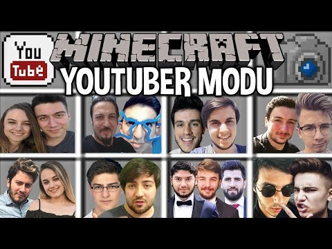 📺🔥 MİNECRAFT YOUTUBER MODU 🕹 (BugraaK, Enes Batur)