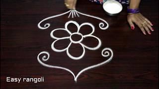 how to draw simple rangoli designs with out dots,latest kolam, beautiful muggulu designs