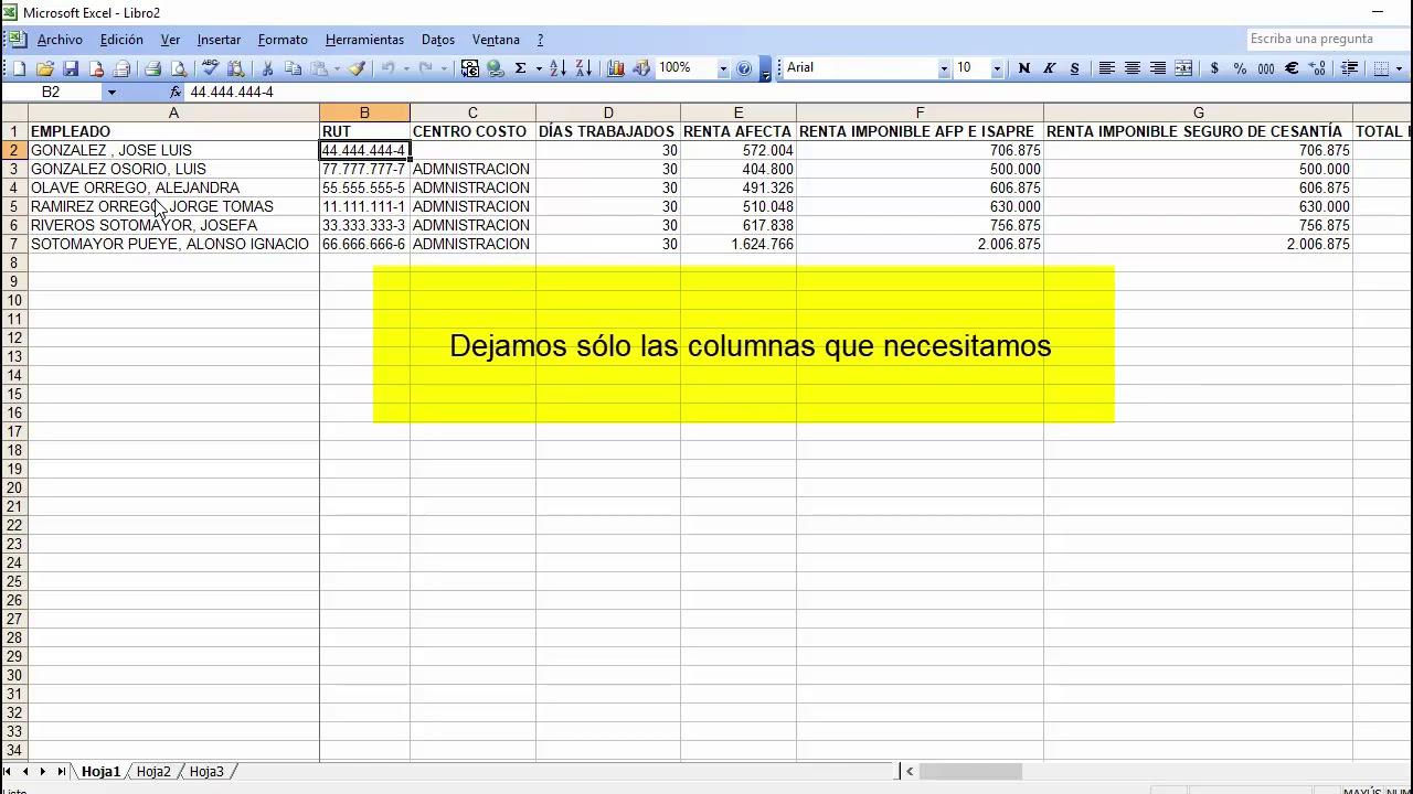 Pasar datos de Excel a Liquidaciones - YouTube