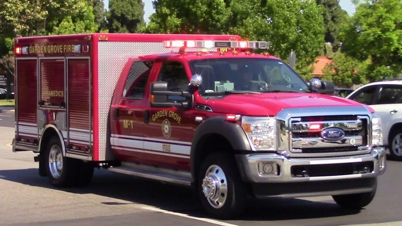 Garden Grove Fire Dept Medic 1 Responding X2 Youtube