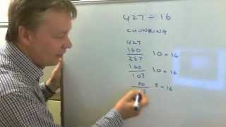 How to do long division using chunking method