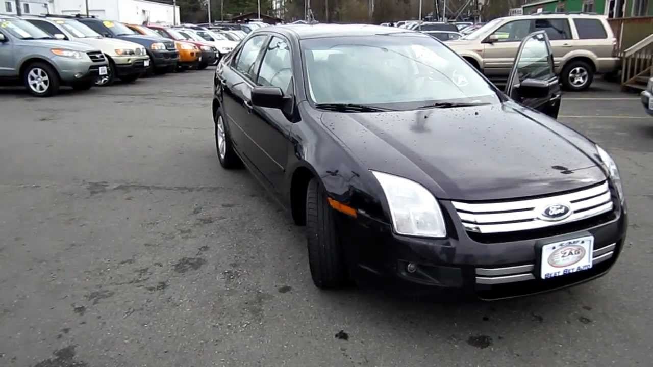 2007 ford fusion v6 se black stock l153388 walk around
