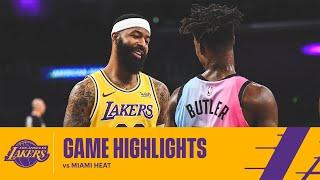 HIGHLIGHTS   Los Angeles Lakers Vs Miami Heat