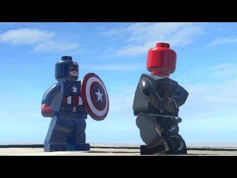 CAPTAIN AMERICA VS RED SKULL (BATTLE) - LEGO Marvel Super ...