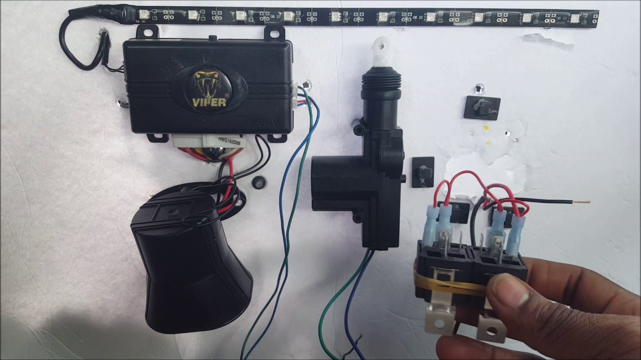 How To Wire Up A 5 Wire Door lock Actuator Relay From