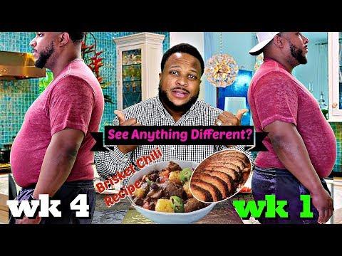 Brisket Chili Recipe & Mukbang, Wk 4 Weight Loss Update