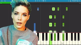 How to play Sorry on piano - Halsey - Piano Tutorial - Instrumental