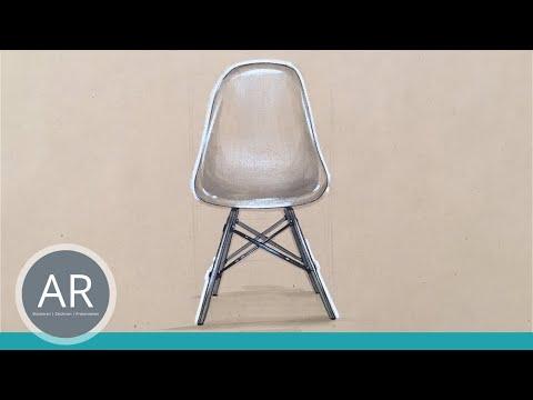 Möbel Zeichnen Lernen - Vitra Eames Plastic Side Chair - Bewerbungsmappe Innenarchitektur