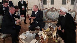 Üçlü zirvede Kur'an'dan alıntı yapan Putin'in Erdoğan ve Ruhani'yi güldüren cevabı