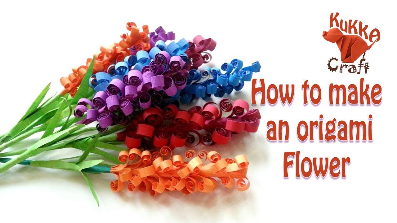 Kukka Craft - How to make an origami flower