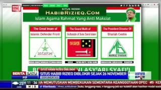 Situs Habib Rizieq Diblokir