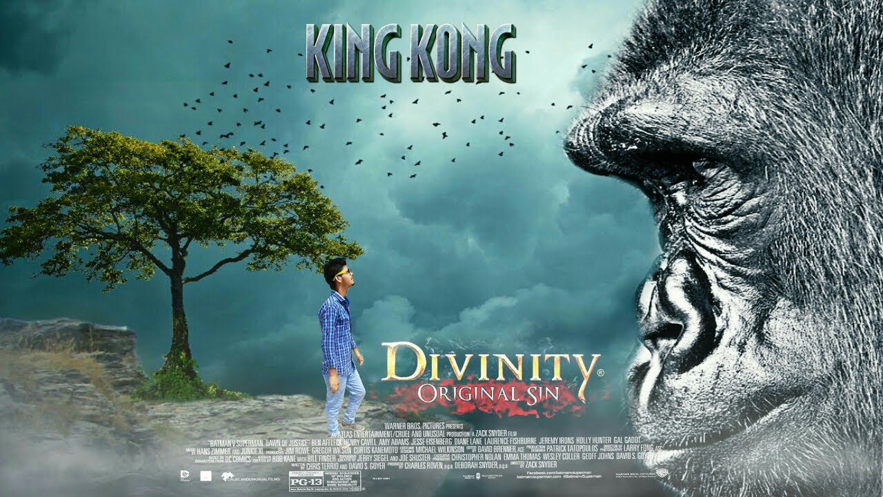 king kong hollywood 3d movie poster how to make a king kong 3d movie poster by rajesh gupta