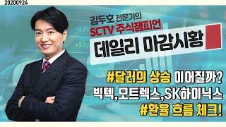 2020-09-24 김두호의 데일리 마감 시황 : 달러…