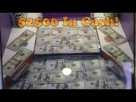 This Coin Pusher Has OVER $2,500 CASH In It! High Risk... ALL $100 BILLS