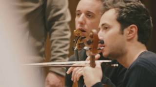 Quatuor Ebène record Eternal Stories with Michel Portal