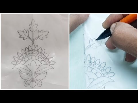 Drowing Hand embroidery design ||Tracing Design tutorial 2019 thumbnail