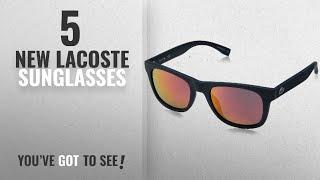Top 10 Lacoste Sunglasses [ Winter 2018 ]: Lacoste L790s Rectangular Sunglasses, Matte Blue Night,