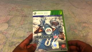 Madden NFL 13 PS Vita/Xbox 360 Unboxing