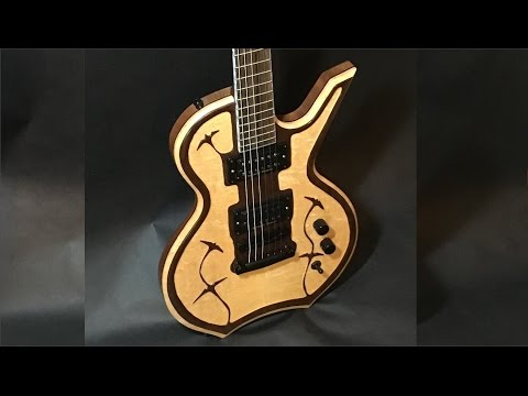 Handmade Electric Guitar Body Build - Birdseye Maple/Walnut (Full Build)