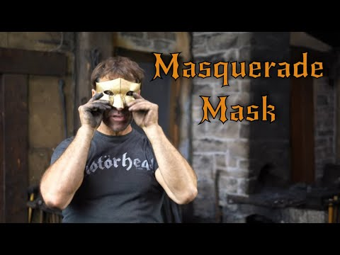 How to Make a Metal Masquerade Mask - Beginner Repousse Techniques
