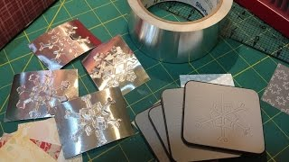 Metal Duct Tape on Card Fronts