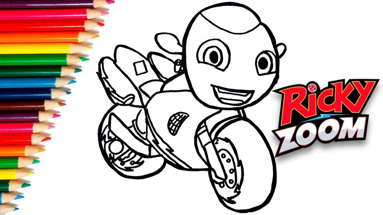 How To Draw Ricky Zoom Cartoon Como Dibujar Y Colorear A