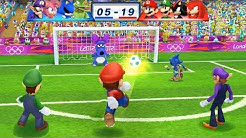 Mario & Sonic At The London 2012 Olympic Games Football Mario, Luigi, Shadow and Knuckles