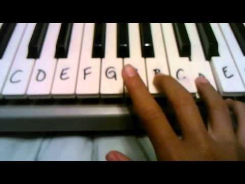 How to play saria's song on piano
