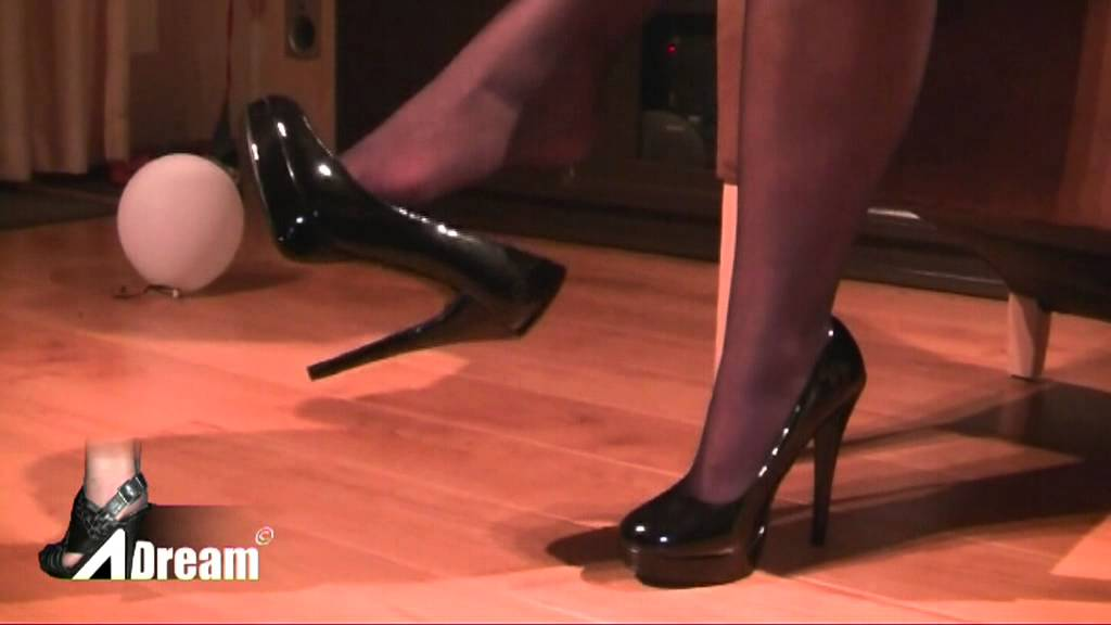 Dangling Glossy Black High Heels Youtube