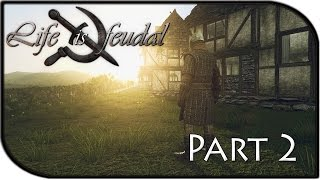 Life Is Feudal Gameplay Part 2 - Terraforming + Starting To Build! (basic Tutorial)