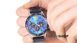Scuderia Ferrari Men S Pilota Chronograph Watch 0830388 Youtube