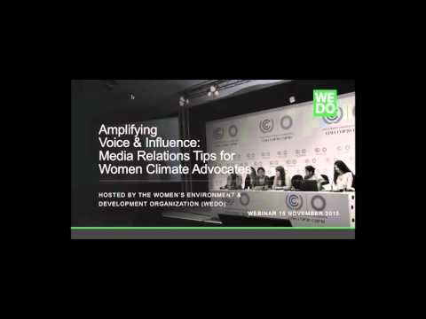 Amplifying Voice and Influence: Media Training for Women Climate Advocates