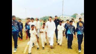 Rahul Gandhi plays cricket in Rewari after chopper makes emergency landing due to bad weather