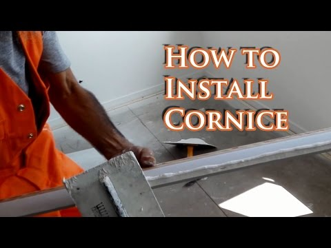 How to install cornice
