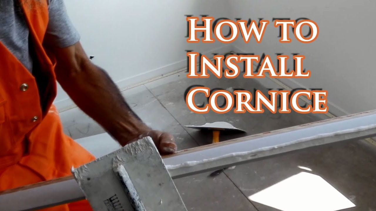 How To Install Cornice Youtube
