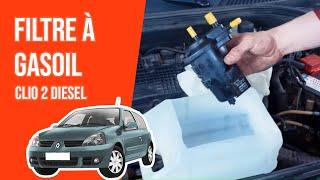 Changer le Filtre à Gasoil CLIO 2 1.5 DCI ⛽