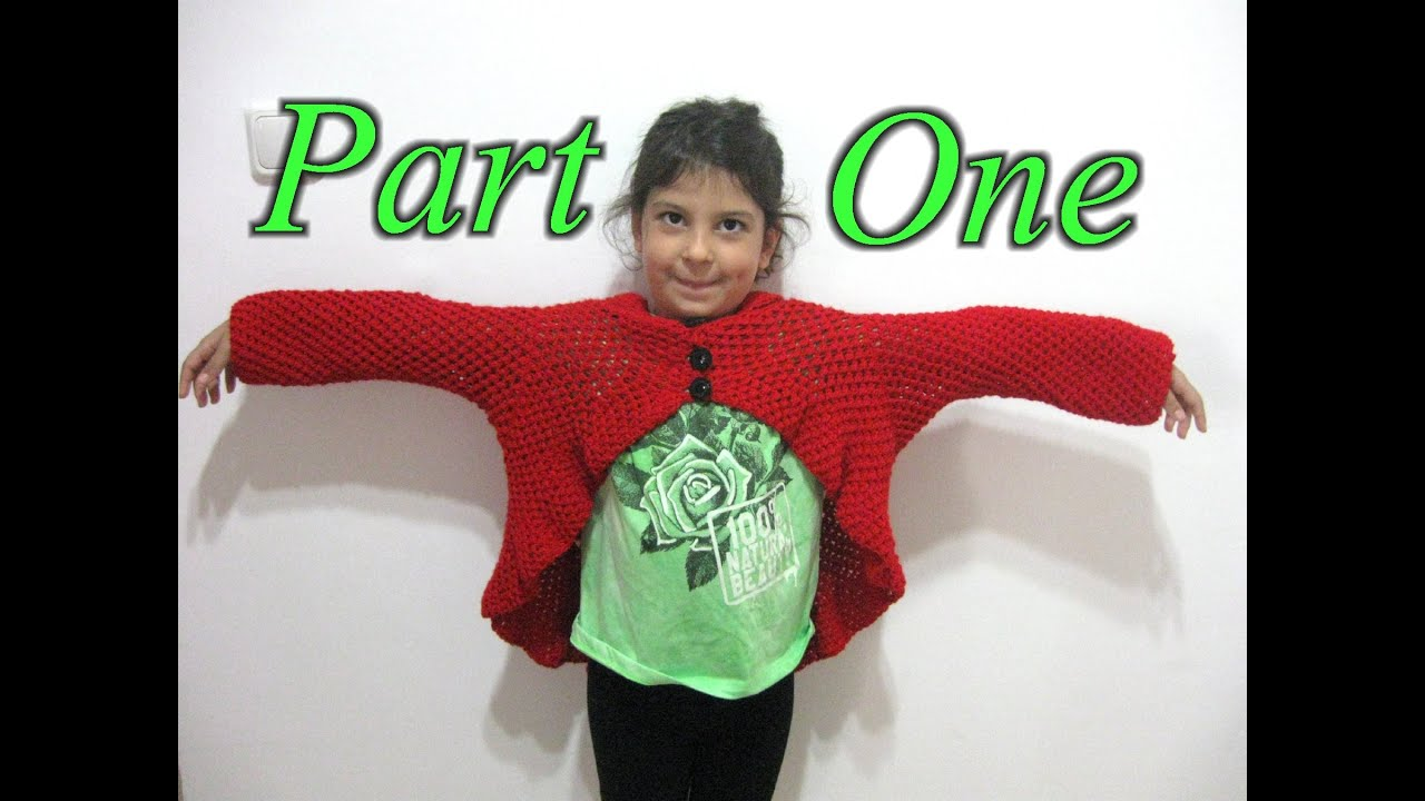 Butterfly stitch circular jacket part 1 crochet tutorial youtube bankloansurffo Image collections