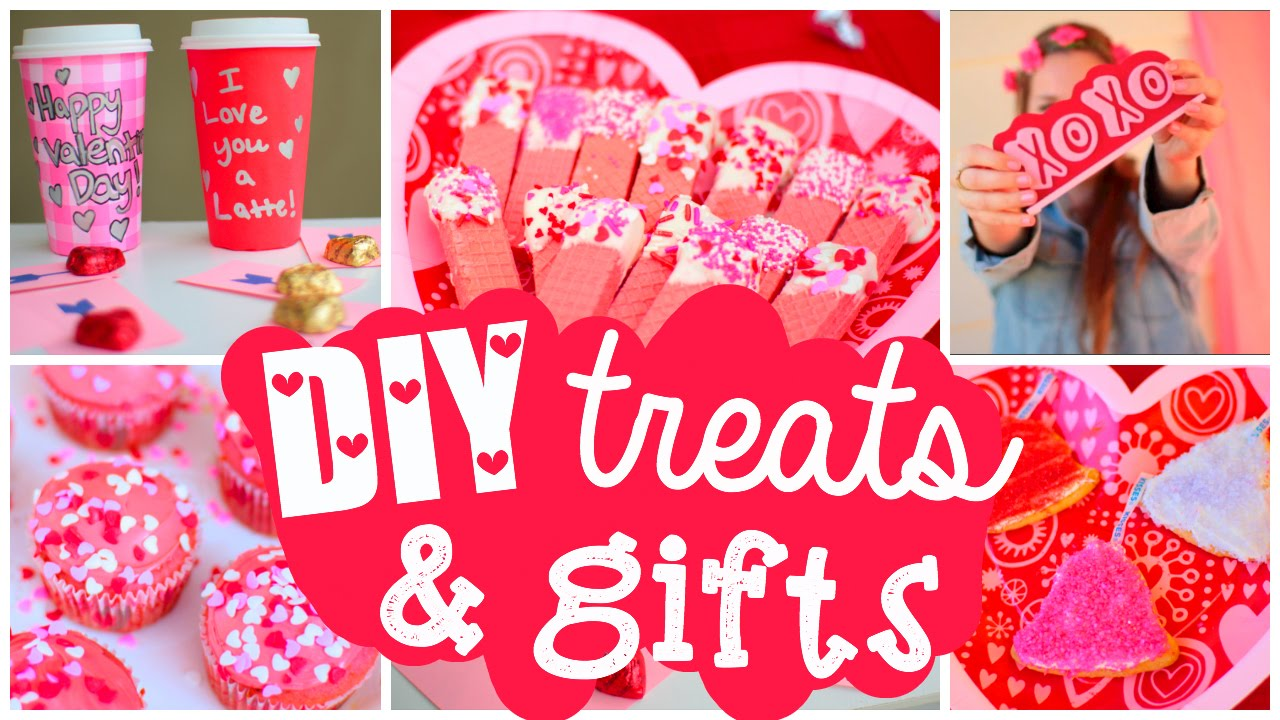 diy valentines day treats gifts cute easy ideas youtube - Valentine Snacks For School