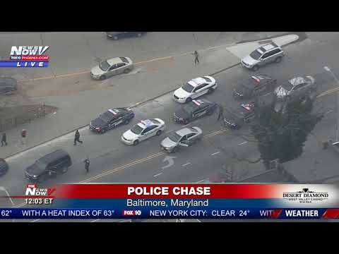 WATCH: Wild Police Chase In Baltimore - Watch That Ending! (FNN)