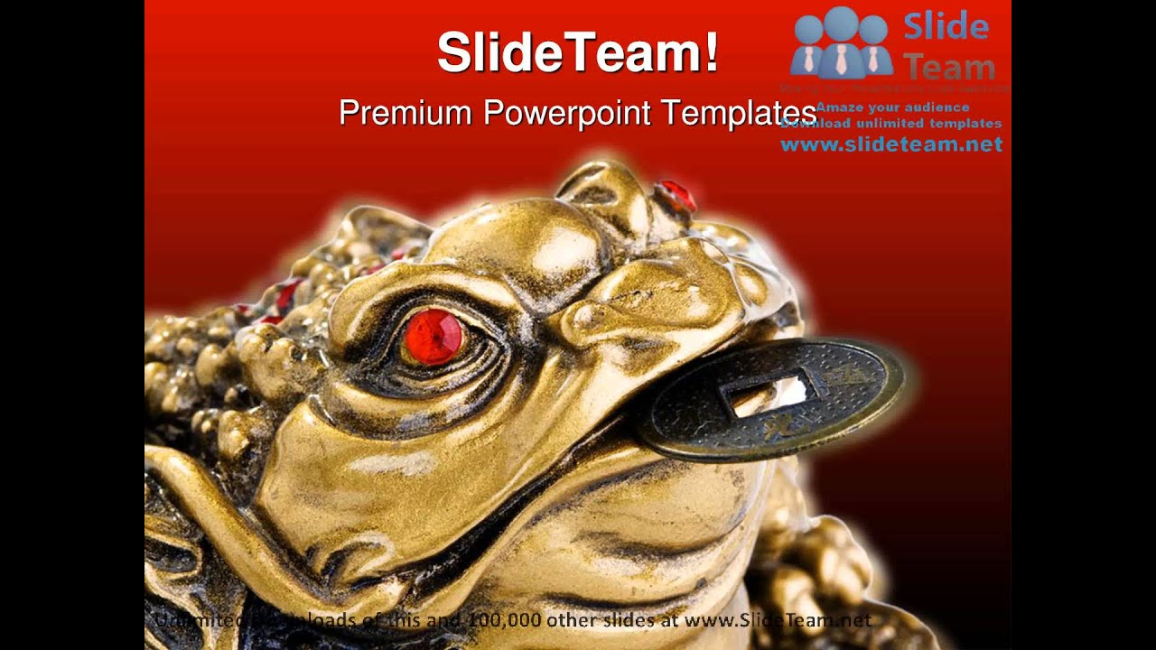 feng shui frog religion powerpoint templates themes and